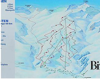Mapa střediska - areálu - Bivio