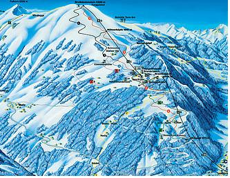 Mapa střediska - areálu - Chur-Brambrüesch