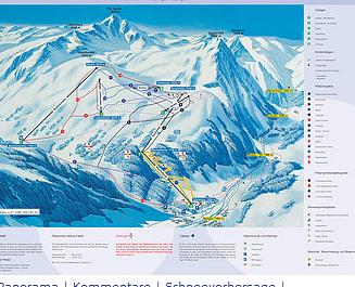 Mapa střediska - areálu - Splügen