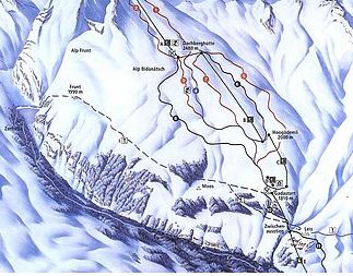 Mapa střediska - areálu - Vals