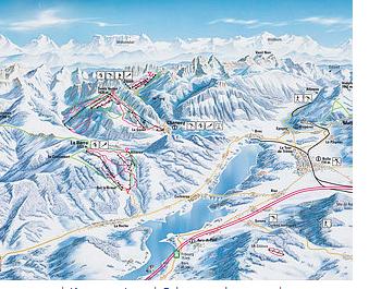 Mapa střediska - areálu - Fribourg Region