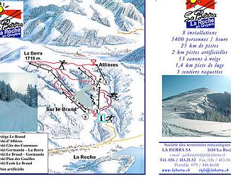 Mapa střediska - areálu - La Berra