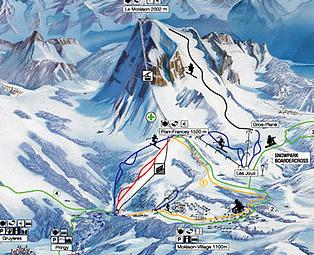 Mapa střediska - areálu - Moléson