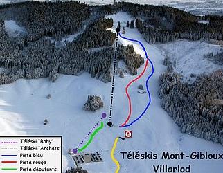 Mapa střediska - areálu - Mont Gibloux