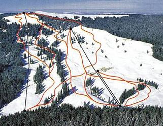 Mapa střediska - areálu - Rathvel
