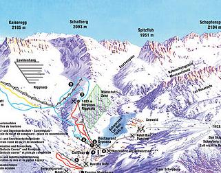 Mapa střediska - areálu - Schwarzsee