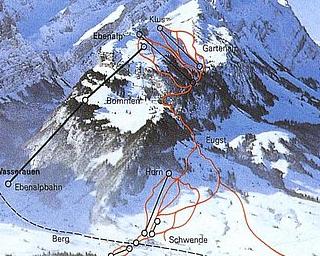 Mapa střediska - areálu - Ebenalp - Schwende