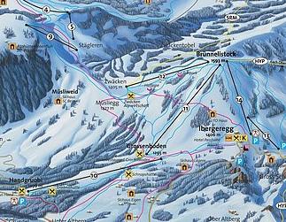 Mapa střediska - areálu - Handgruobi