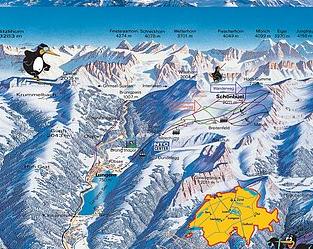 Mapa střediska - areálu - Lungern - Schönbüel