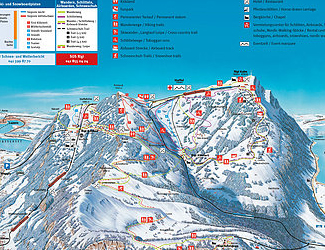 Mapa střediska - areálu - Rigi