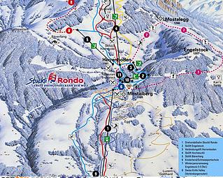 Mapa střediska - areálu - Sattel Hochstuckli