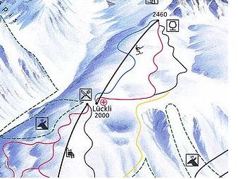 Mapa střediska - areálu - Wiriehorn