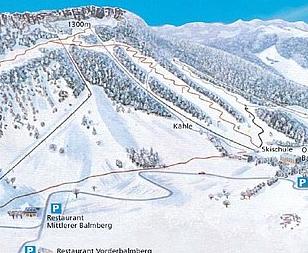 Mapa střediska - areálu - Balmberg