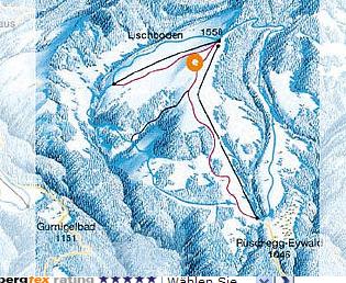 Mapa střediska - areálu - Rüschegg-Eywald