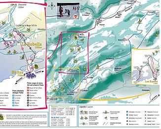 Mapa střediska - areálu - La Robella