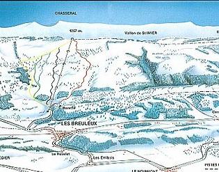 Mapa střediska - areálu - Les Breuleux