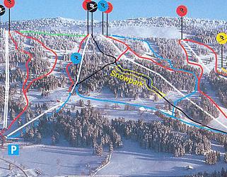 Mapa střediska - areálu - Les Bugnenets - Savagnieres