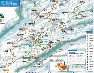 Mapa střediska - areálu - Les Genevez