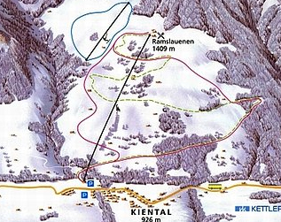 Mapa střediska - areálu - Kiental