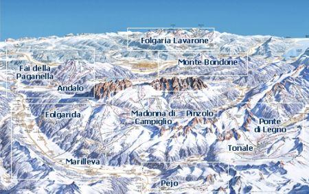 Mapa střediska - areálu - Marilleva/Folgarida