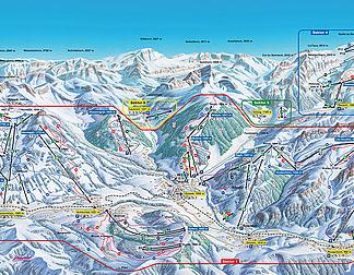 Mapa střediska - areálu - Gsteig