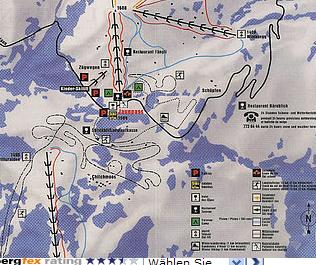 Mapa střediska - areálu - Jaunpass