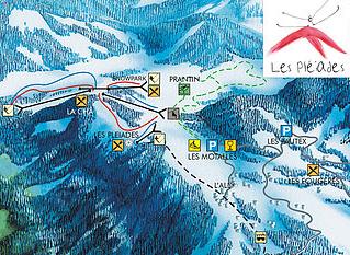 Mapa střediska - areálu - Les Pléiades