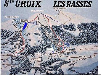 Mapa střediska - areálu - Sainte Croix