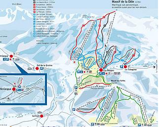 Mapa střediska - areálu - St. Cergue - La Dôle