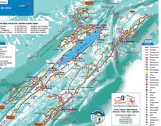 Mapa střediska - areálu - Vallee de Joux