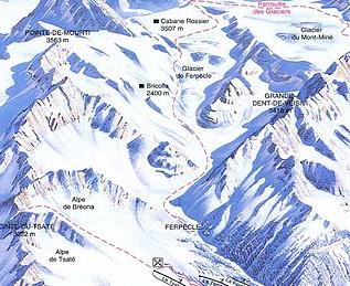 Mapa střediska - areálu - La Forclaz