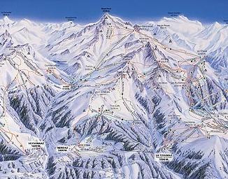 Mapa střediska - areálu - La Printze - Thyon - Veysonnaz - Nendaz