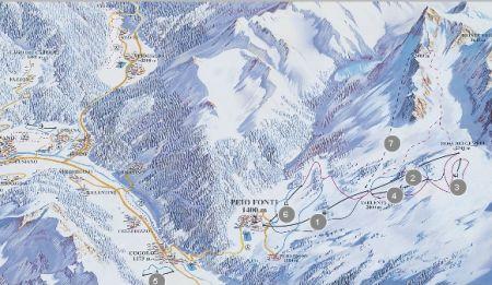 Mapa střediska - areálu - Val di Sole