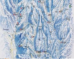 Mapa střediska - areálu - Val-d Illiez - Les Crosets - Champoussin