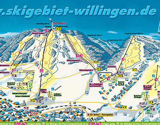 Mapa střediska - areálu - Willingen