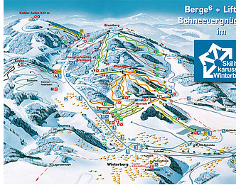 Mapa střediska - areálu - Winterberg