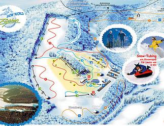 Mapa střediska - areálu - Züschen