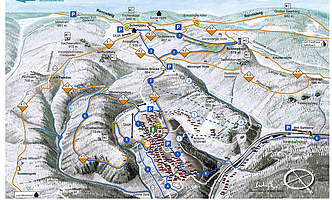 Mapa střediska - areálu - Gehlberg