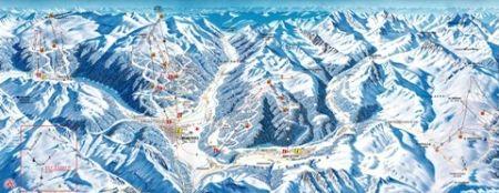 Mapa střediska - areálu - Val di Dentro/Val di Sotto
