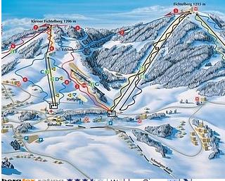 Mapa střediska - areálu - Fichtelberg