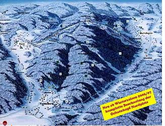 Mapa střediska - areálu - Ochsenkopf
