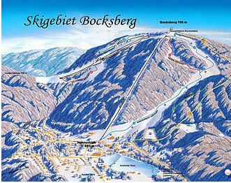 Mapa střediska - areálu - Bocksberg-Hahnenklee