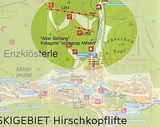 Mapa střediska - areálu - Enzklösterle