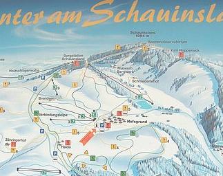 Mapa střediska - areálu - Hofsgrund Schauinsland