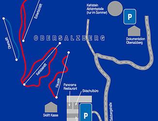 Mapa střediska - areálu - Berchtesgaden - Gutshof Obersalzberg