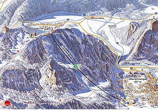 Mapa střediska - areálu - Laber - Oberammergau