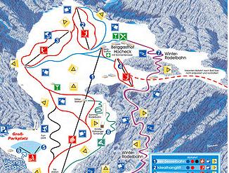 Mapa střediska - areálu - Oberaudorf Hocheck