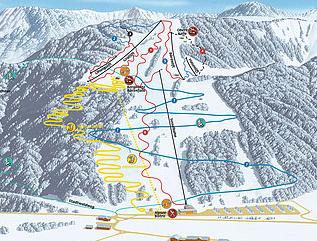 Mapa střediska - areálu - Alpsee Bergwelt