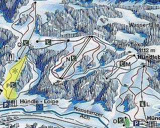 Mapa střediska - areálu - Hündle-Thalkirchdorf