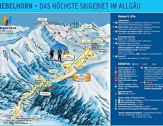 Mapa střediska - areálu - Oberstdorf/ Nebelhorn